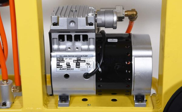 Vacuum pump on standard vacuum glass lifter KSAF-01 from HHH Tempering Resources