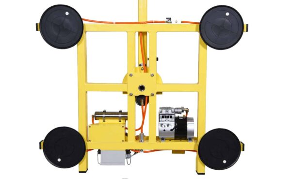 Back view of standard vacuum lifter KSAF-04 from HHH Tempering Resources