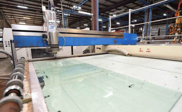 Waterjet cutting table from HHH Tempering