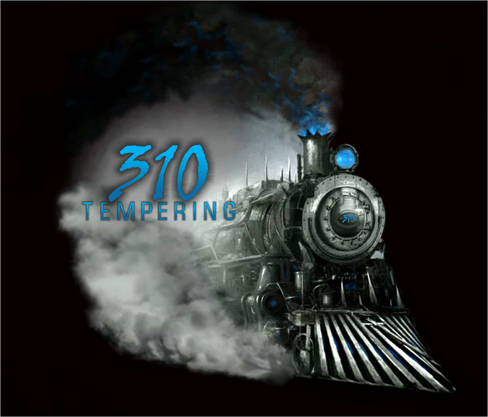 210 Tempering logo with steaming train