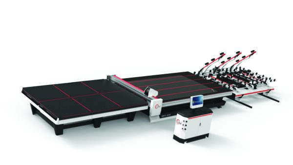 Back view Glas.C Glass Cutting Table with Loading System (C4-A, C5-A, C6-A) from HHH Equipment Resources