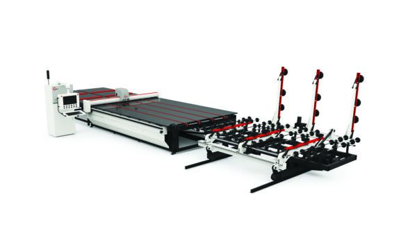 Front view Glas.C Glass Cutting Table with Loading System (C4-A, C5-A, C6-A) from HHH Equipment Resources