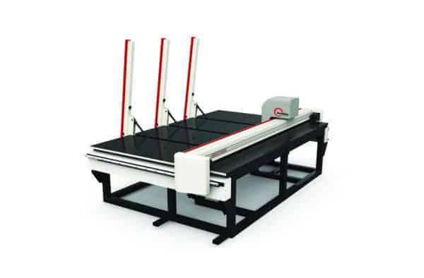 Front view GlasC. Glass Cutting Table Basic Series Loading Bar Type (BQT) from HHH Equipment Resources