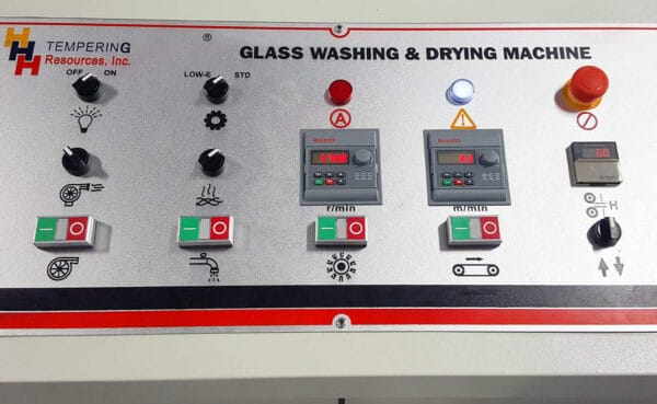 Glass Washing Machine Control Panel from HHH Tempering Resources