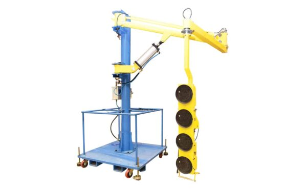Jib Crane with Ejector Glass Lifter from HHH Tempering Resources