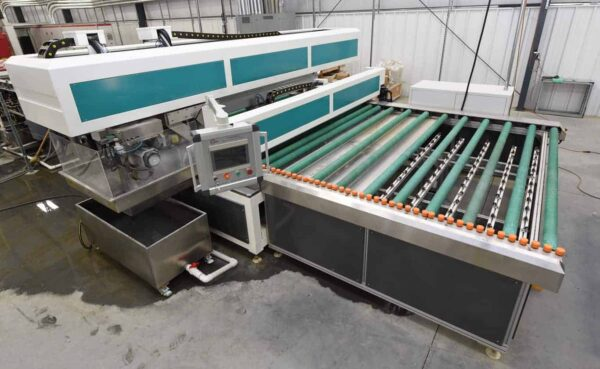 Top view glass grinding machine from HHH Tempering Resources
